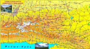 Туристическая карта северного Тянь- Шаня. Чимбулак