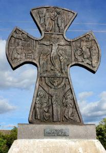 поклонный крест. Чудское озеро