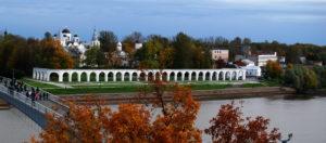Вид на Гостиный двор. Великий Новгород.