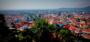 Вид на город с замка. Грац