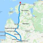 На машине по Прибалтике